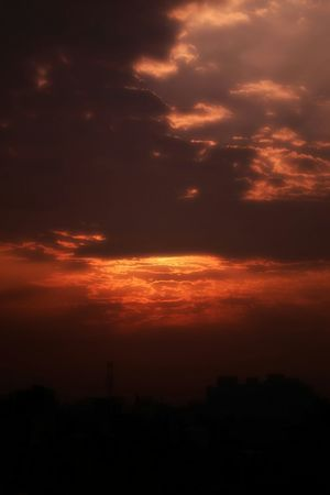 Sky Evening Sunset Orange Sky Painting Artistic Amazing Joyfull