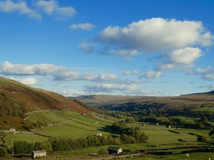 Swaledale from Angram Landscape_photography Landscape_Collection Copy Space Cloud - Sky Landscape Sky Scenics - Nature Environment Tranquil Scene Beauty In Nature No People Tranquility Agriculture Rural Scene Nature