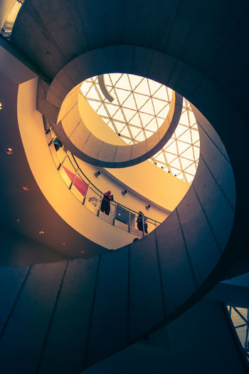 43 Golden Moments Arch Architectural Feature Architecture Building Built Structure Ceiling Dali Museum Day Design Directly Below Geometric Shape Illuminated Interior Low Angle View Modern No People Repetition Sky Skylight Travel Destinations