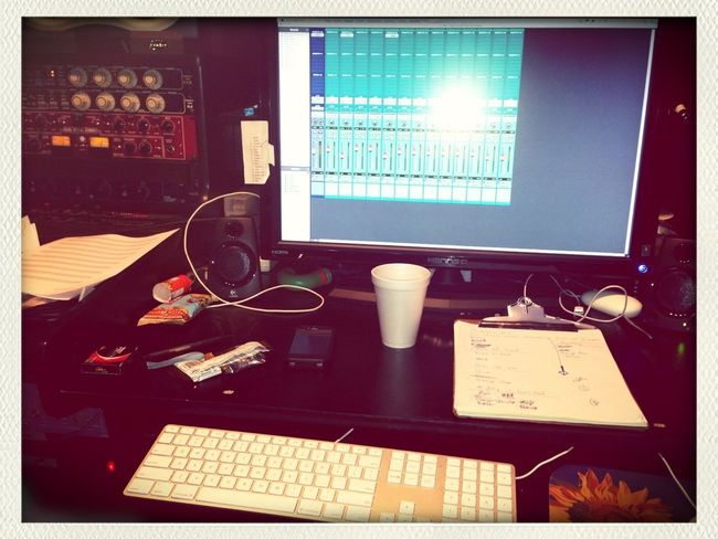 Studio time!! #workstationfortheday #studiosession #greatsong #awesomeday