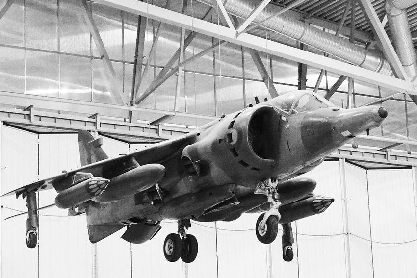Harrier Rising EyeEmBestEdits EyeEmBestPics Warplane Black&white Shades Of Grey Blackandwhite Photography Olympus OM-D EM-1 Militaryaviation EyeEm Best Shots Fighterplane