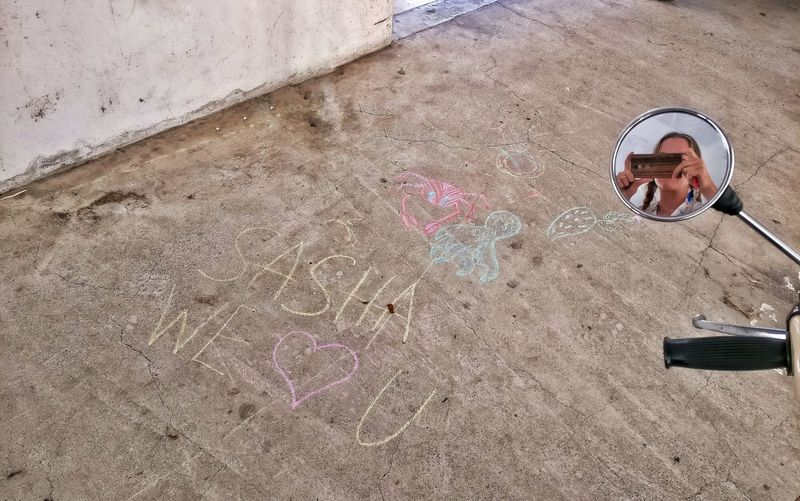 My sis and nephew surprised me with this at my parking lot Soooo Cute! SoSweet Sister ❤ Nephew ♡ Chalk Streetart Streetphotography Parking Lot Sister Love ♡ Scooter Mirrow Selfie Creativity Drawings Drawingtime Love MomentsToRemember