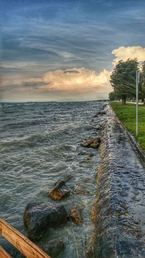 Beach Cloud - Sky Water Horizon Over Water Landscape Nature Sky Balaton - Hungary EyeEm Dramatic Sky EyeEm Best Shots Hdr_Collection HDR Getty The Great Outdoors - 2017 EyeEm Awards Weather Getty Images Cloudscape EyeEm Best Shots - Nature