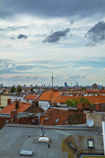 Alexanderplatz Architecture Berlin From Above Berlin Rooftop Berlin Skyline Berlin Tourist Berliner Fernsehturm Berliner Skyline Berlinstagram Building Exterior Built Structure City City From Above Cityscape Cloud Cloud - Sky Day High Angle View Klunkerkranich  No People Outdoors Roof Roof Sky Skyline