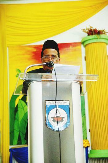 Speech at hall Speaking Text Speech At Hall Headmaster School Assembly Man Speech Serius Talk EyeEm Selects