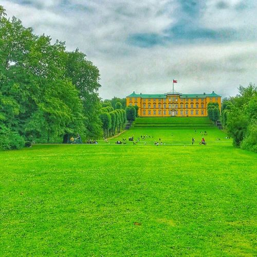 Grass Cloud - Sky Garden Frederiksberg Have Frederiksborg Slot Denmark Architecture Green Color