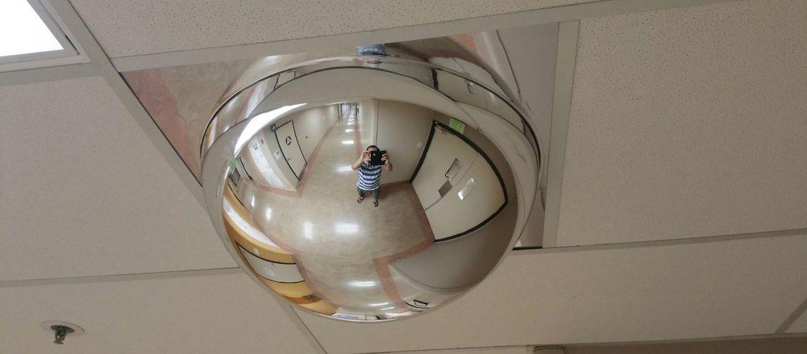 Illuminated lamp in bathroom
