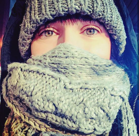Winter&Me Winter Looking At Camera One Woman Only Portrait Cold Temperature Snow Human Eye Winter Sun Sunshine Waiting For A Train