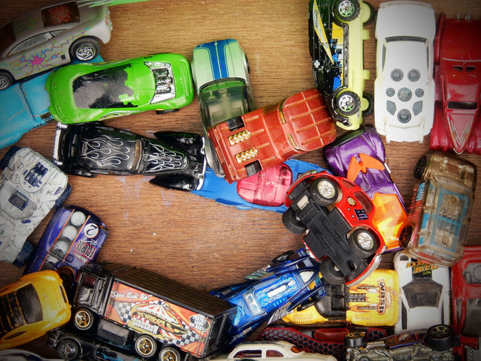 Cars Close-up Day High Angle View Indoors  Large Group Of Objects No People Old Car Toys Old Toys Table Toy Car Close Up Toy Car Collection Toy Cars Toys Variation