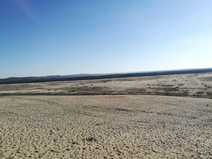 Desert Salt - Mineral Clear Sky Desert Salt Basin Arid Climate Sand Dune Beach Sand Sea Blue Semi-arid Eroded Geology