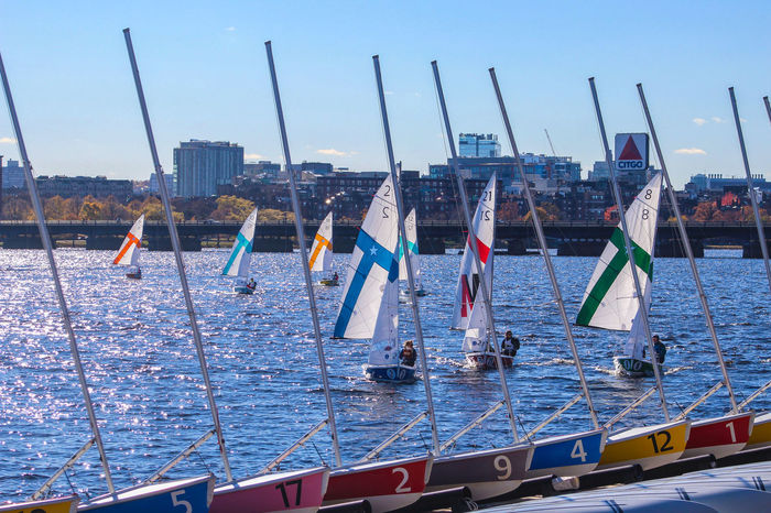 MIT sailing in pattern pieces. Boats Boston Cityscapes Massachusetts Mit Outdoors Pattern Pieces Perspective Perspective Photography Sailing Travel Travel Photography Water Waterfront Waterscapes