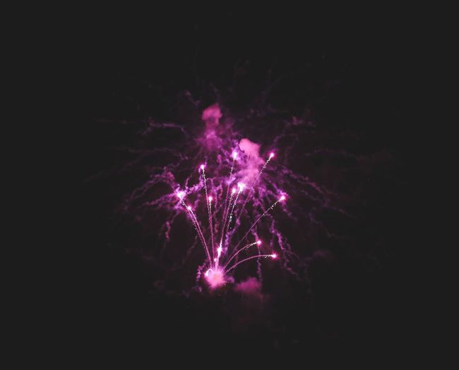 Night Firework Illuminated Arts Culture And Entertainment Firework Display Exploding Event Motion Celebration Sky Low Angle View No People Smoke - Physical Structure Dark Pink Color Outdoors Long Exposure Light Nature Glowing