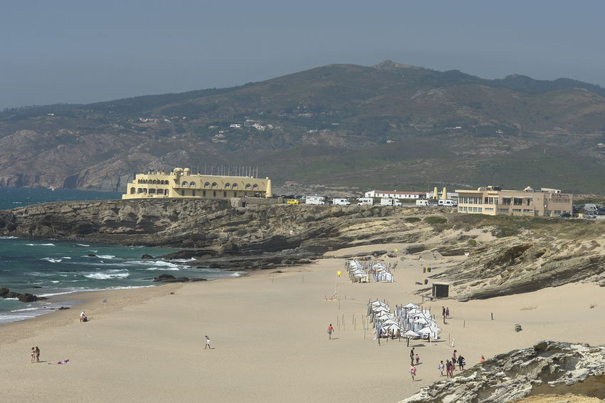 Beach Photography Beauty In Nature Coastline Day Hill Hotel Do Guincho Landscape Mountain Nature Outdoors Sky Sony DSC-R1 Tourism Tranquil Scene Travel Destinations