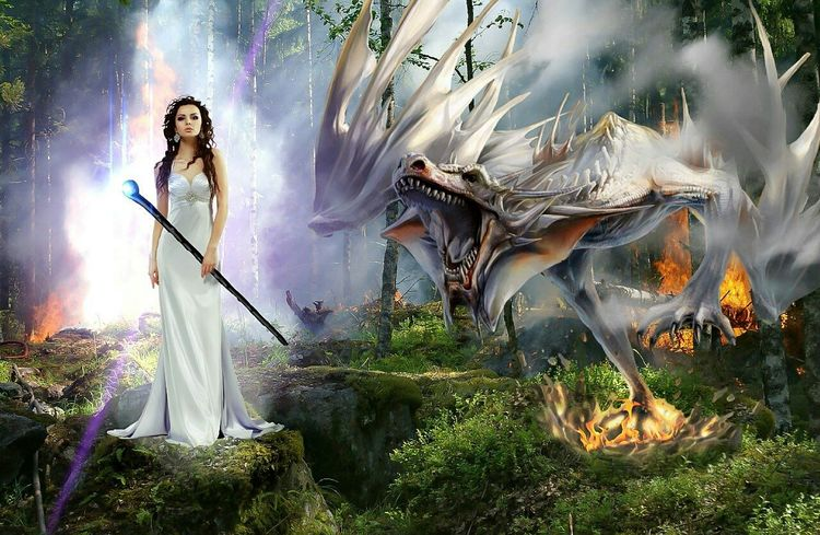 Badass Women have Badass pets Fairytales & Dreams Painted Pictures Creative Power Dark Fairytale Twisted Dream Fantasy Dragon Learning From Nature Stories, Fables & Fairytales Fantasy Edits Hunting dragons
