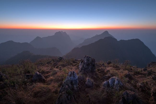 Doi Chiang Dao Mountain Chiangmai Thailand Beauty In Nature Chiangdao Day Landscape Magestic Magestic Sky Majestic Sky Mountain Mountain Range Nature No People Outdoors Scenics Sky Sunset Tranquil Scene Tranquility Tree