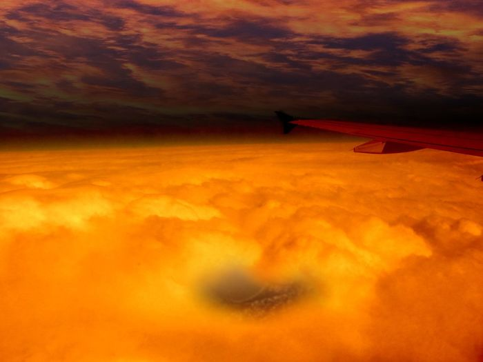 Aircraft Wing Beauty In Nature Cloud Cloud - Sky Cloudscape Cloudy Cropped Dramatic Sky Idyllic Journey Landscape Majestic Nature No People Orange Color Outdoors Overcast Part Of Scenics Sky Sunset Tranquil Scene Tranquility Weather