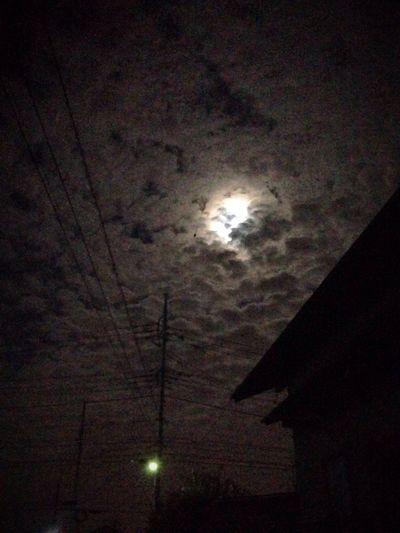 Moon Moonlight Night 雲 月 月明かり 2015.3.5