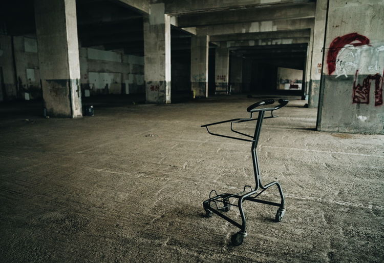 Abandoned Cart Abandoned Abandoned Places Absence Cart Dark Deterioration Empty Hong Kong No People Old Parking Lot Ruined Run-down Seat Urban Exploration