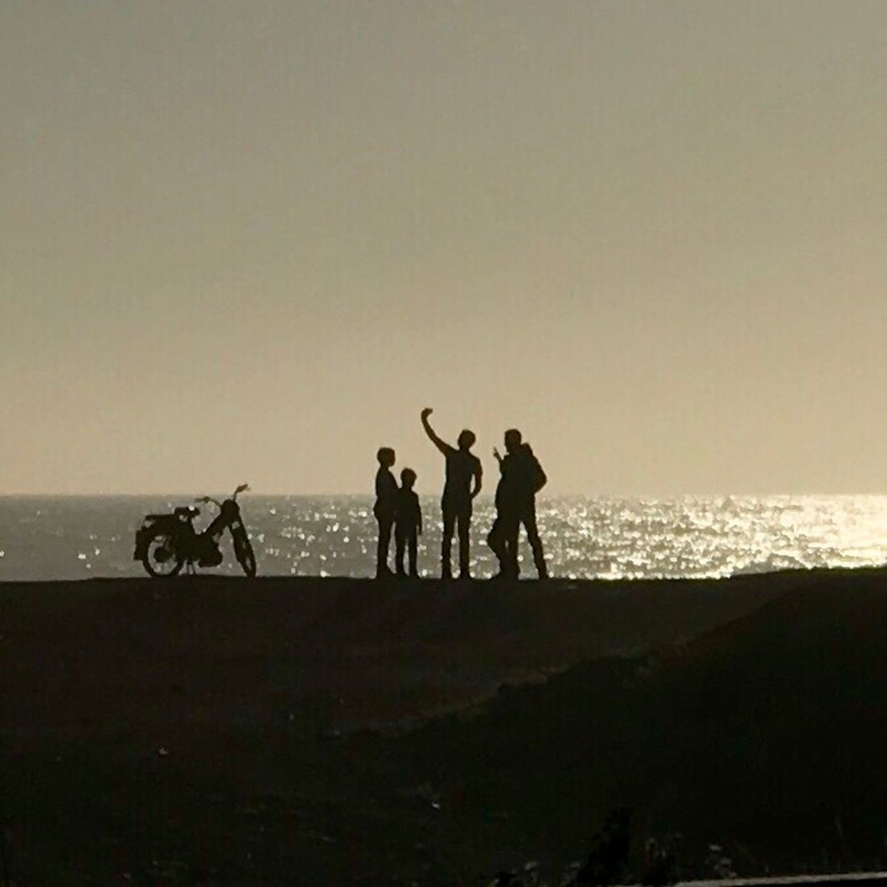 horse, silhouette, men, real people, riding, sunset, transportation, sport, leisure activity, togetherness, sky, nature, horseback riding, competition, beach, lifestyles, clear sky, sand, sea, outdoors, full length, domestic animals, friendship, mammal, day, adult, people