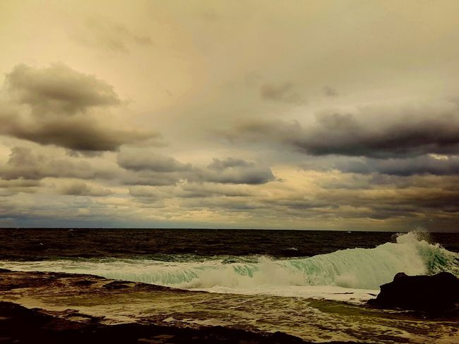 Sea Water Horizon Over Water Scenics Beach Tranquil Scene Sky Tranquility Beauty In Nature Tourism Nature Rock - Object Wave Shore Travel Destinations Cloud - Sky Cloud Non-urban Scene Seascape Vacations Waterfall Beauty In Nature Day Storm Cloud Stream