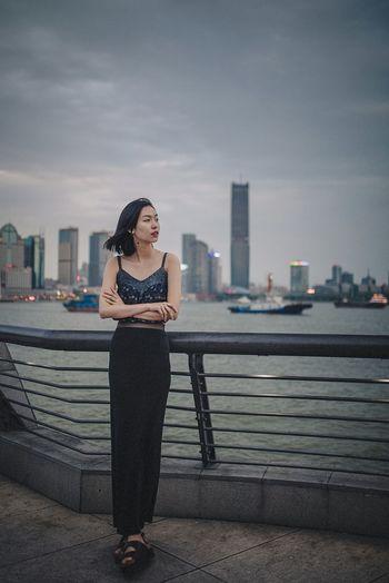 BABYGHOST Streetphotography Taking Photos Getting Inspired Portrait Walking Around The Bund Shanghai Nikon 35mm
