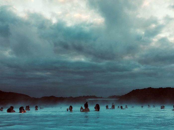 Blue Lagoon 🇮🇸 Iceland Snow Spa Treatment Cloud - Sky Sky Water Nature Travel Mountain Sea Scenics - Nature Holiday Outdoors