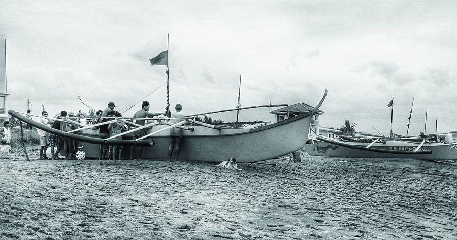Nautical Vessel Transportation Boat Sea Outdoors Black And White Blackandwhite Photography Blackandwhite Monochrome Sojourner Men Boat