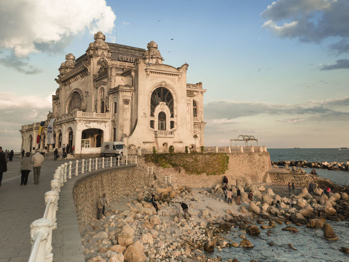 Constanta Old Casino Constanta Romania South East Europe Architecture Black Sea Building Building Exterior Built Structure Cloud - Sky History Outdoors Sea Shore Sky Summer Tourism Travel Travel Destinations Water