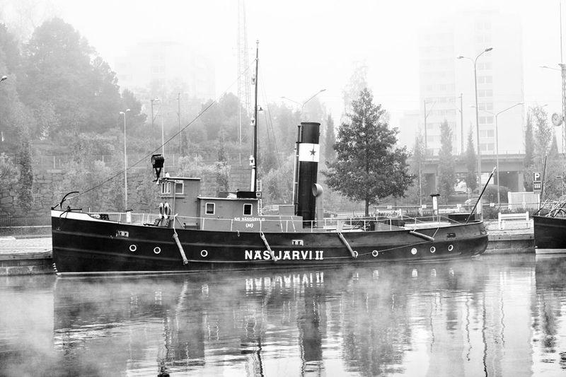 Näsijärvi II Boat Tampere Suomi Finland Water Vintage Old Blackandwhite Black & White Blackandwhite Photography Black And White Photography Monochrome Photography MonochromePhotography Light And Reflection