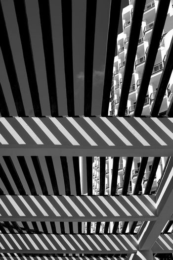 underneath a Mexican shelter Architecture Backgrounds Built Structure Cloiud Day No People Outdoors Pattern Shadow Shadows Striped