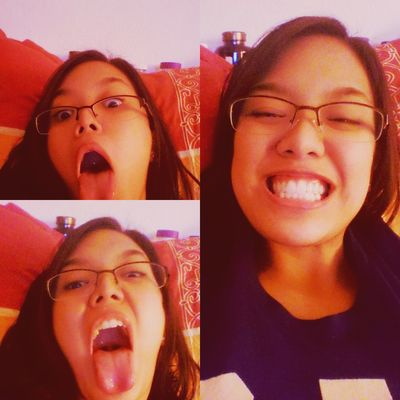Product of staying in bed the whole day Wackyface Crazyselfies