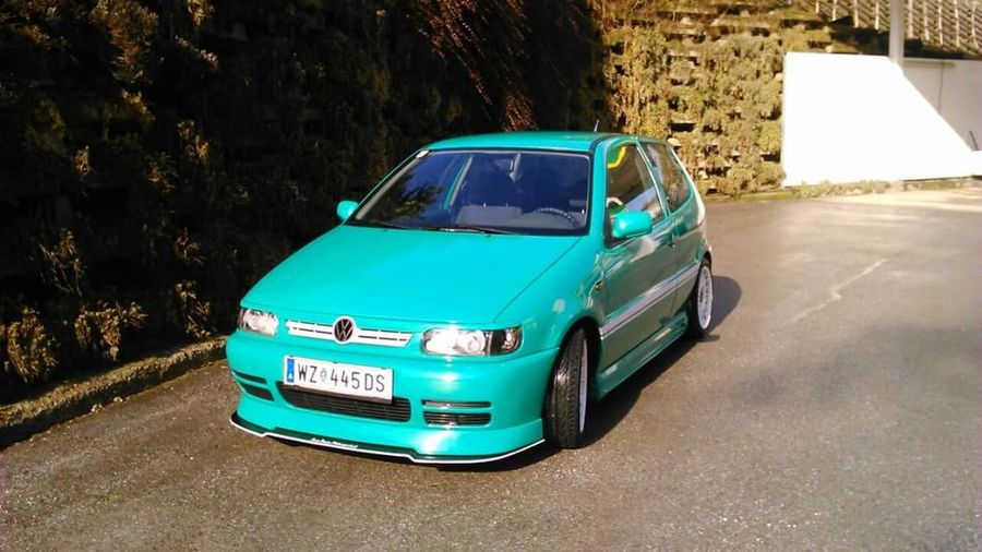 Polo 6N VW POLO 6N VW Car Low Tuning Cars Green Color No People