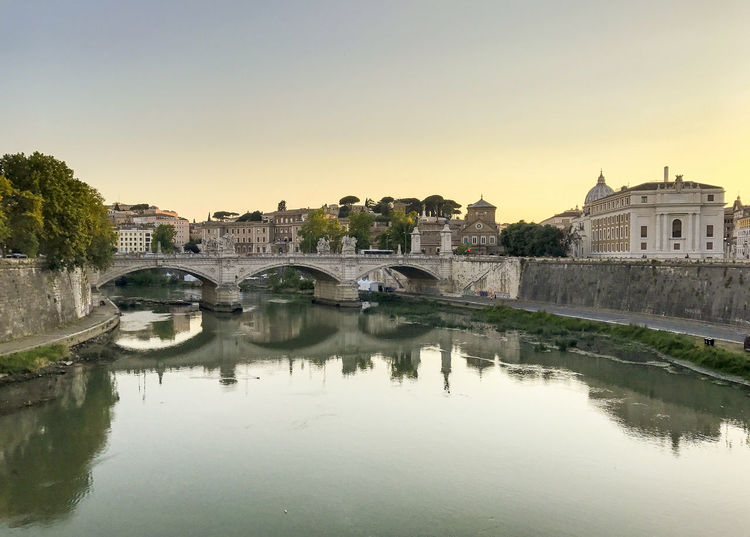 Tiber Roma Rome Rome, Italy Tiber River Architecture Bridge - Man Made Structure Built Structure City Cityscape Clear Sky Day Eternal City Italy Italy🇮🇹 Nature Outdoors Reflection River Sky Tiber Water Waterfront