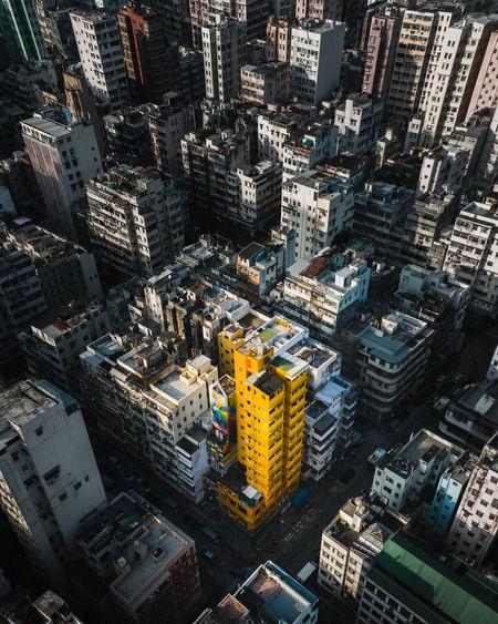Yellow tower in hongkong