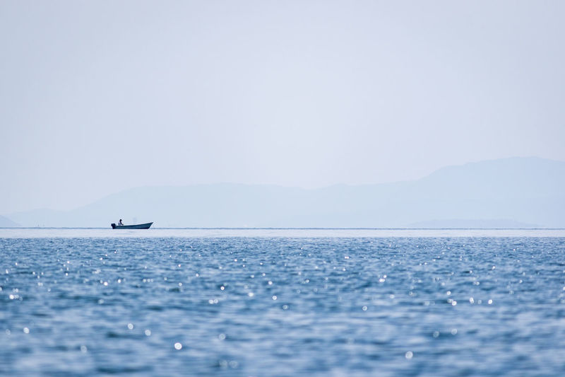 Beauty In Nature Blue Clear Sky Horizon Over Water Nature Sea Sky Tranquil Scene Water Waterfront