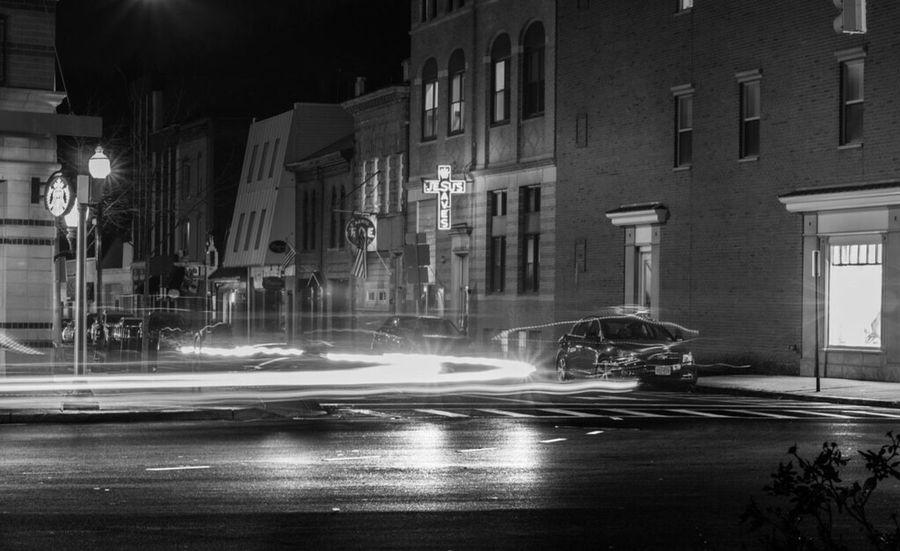 Learn & Shoot: After Dark New Jersey Blackandwhite Long Exposure Traffic Streetphotography Morristown Nj