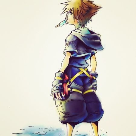 Someone asked me to draw Sora from Kingdom Hearts 2 and,i tried.. Manga Kingdomhearts Sora Ps2Drawing kh kingdomhearts paintoolsai videogames