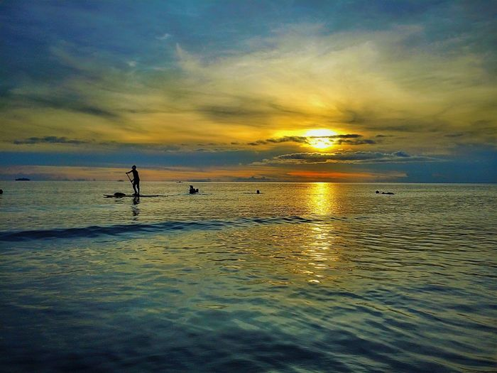 Beautiful sunset at boracay beach