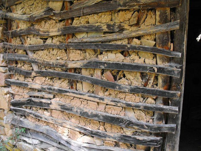 Pattern Full Frame Backgrounds Textured  No People Close-up Outdoors Day Mud House Wood - Material Serbia East Serbia Stara Planina Rsomacki Lonci Slavinjsko Zdrelo Potocara Naboj
