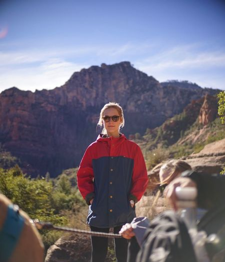Exploring Sedona Adventure Buddies Portrait Sedona Sedona, Arizona Mountain Real People Young Adult Standing One Person Day Outdoors Adventure Nature People Sky Mountain Range Young Women Landscape