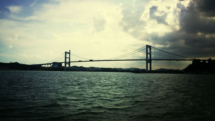 the sea, the bridge, the cloud and the blue sky, that`s what I love! Taking Photos Enjoying Life