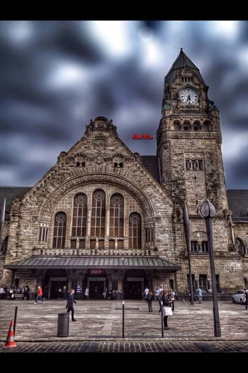 Metz. The old station. France Architecture History Traveling