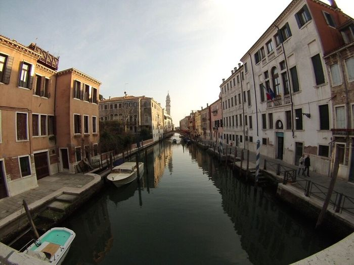 Venice, Italy Venezia Veneza Italy Italia Water Building Exterior Architecture Built Structure Canal Waterfront Reflection City Residential Structure House Residential Building City Life Travel Destinations Sky In A Row Clear Sky River Day Old Town Outdoors