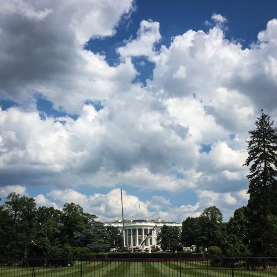 The White House White House Cloud - Sky Sky Architecture Built Structure Tree Travel Destinations Capitol Building Exterior