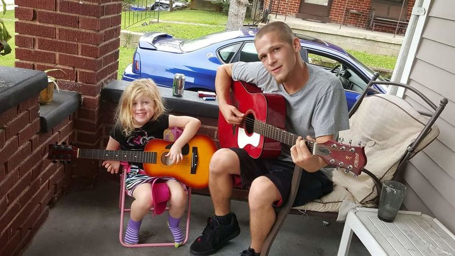 Guitar Playing Two People Plucking An Instrument Togetherness Music Guitarist Sitting Leisure Activity Child Musician Enjoyment Uncle & Niece Learning Teaching The Youth  EyeEmNewHere EyeEmSelect Sommergefühle