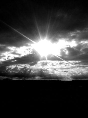 Sun Sky Sunlight Nature Majestic Idyllic Blacknwhite Somnenuntergang Monochrome Photography