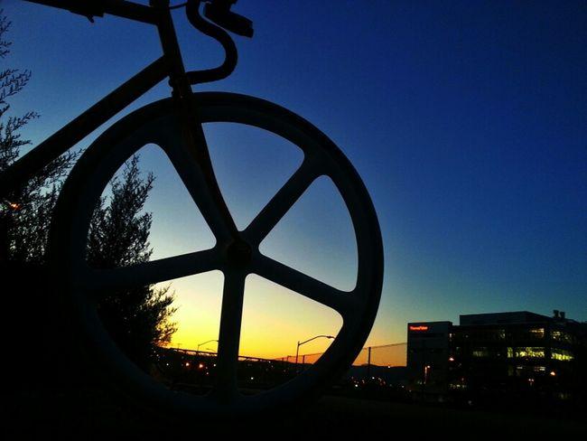 Dawn. Sunrise Bike Bicycle Skyporn Fixie Mercier Aerospoke Kilo Tt