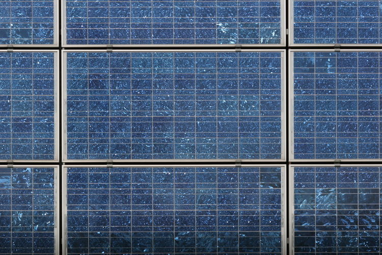 Solar cells Backgrounds Brick Wall Building Exterior Closed Development Exterior Full Frame Geometry Glass Glass - Material Indoors  Looking Through Window Modern No People Pattern Structure Symmetry Transparent Urban Vertical Symmetry Wall Window Window Sill