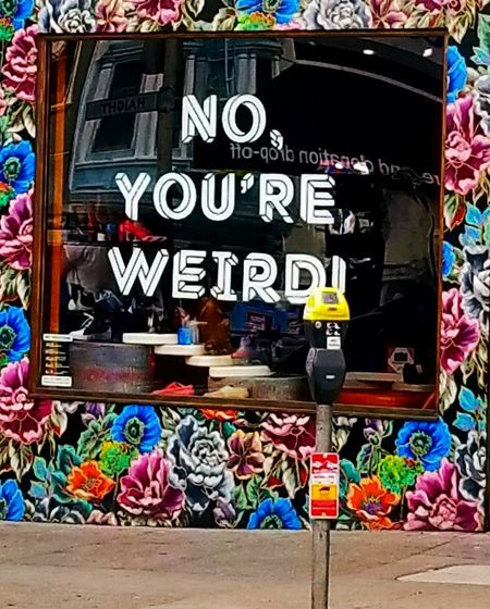 Weird Your Weird Stree Window Display Photography Multi Colored Variation Choice No People Day Outdoors