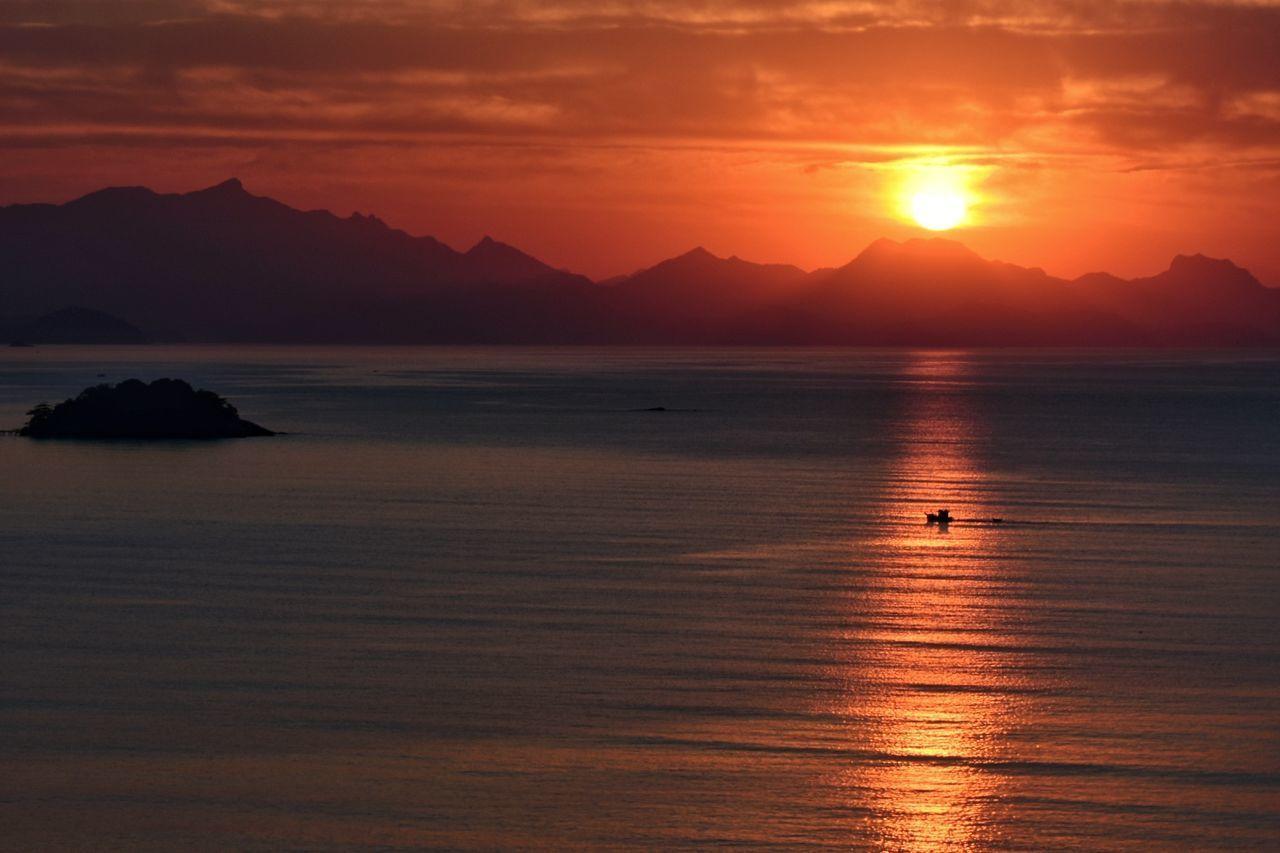 Paraty Landscape Sunset Reflection Nature Sun Red Brasil ♥ Paraty - RJ America Do Sul